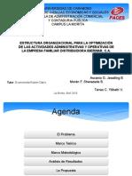 Presentación de TEG  estructura Organizacional de una empresa de distribución