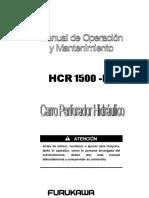 Manual Operación y Mantenimiento Perforadora HCR 1500