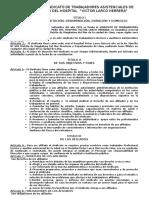 Estatutos Del Sindicato de Trabajadores Asistenciales Del Perú.