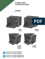 HP LJ M201 M202 M225 M226 Troubleshooting Manual TOC
