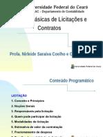 Noções Básicas de Licitações e Contratos