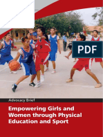 Unesco Empowering Girls & Women Through PE & Sport