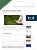 7 Pasos Básicos Para Aprender a Meditar – Pymex