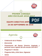 Asamblea Entrega de Cta. y Consejo Educativo