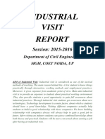 Industrial Visit Report_2015-16