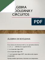Algebra Booleana y compuertas lógicas