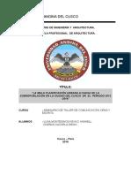 LA MALA PLANIFICACIÓN URBANA A CAUSA DE LA SOBREPOBLACIÓN EN LA CIUDAD DEL CUSCO  EN  EL  PERIODO 2012 -2016