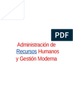 ADMINISTRACION DE RECURSOS HUMANOS - GESTION MODERNA.doc