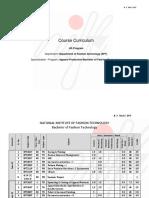 B.F Tech.(III, IV, V, VI, VII) Course Curriculam Running