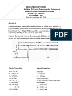 Assignment #1 prestressed concrete