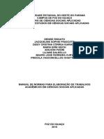 1 UNIOESTE - Manual de Elaboração de Trabalhos Científicos.