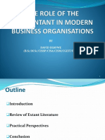 The Role of Accountants in Modern Business Organizations