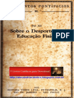 Pio XII - Sobre o Desporto e a Educação Física