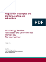 PHE Preparation of Samples and Dilutions Plating and Sub-culture