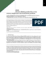 α-D MCDM-TOPSIS Multi-Criteria Decision Making method for n-wise criteria comparisons and inconsistent problems
