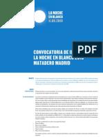 Noche en Blanco Madrid - Convocatoria de proyectos