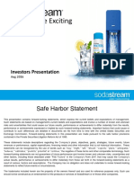SODA SodaStream IR Presentation August 2016