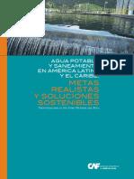 Agua potable y saneamiento en América Latina y el Caribe