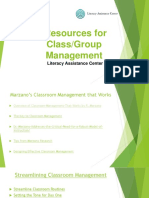 Classroom Management Resources Presentation