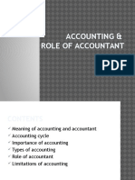 role of accountant