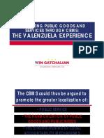 Localizing Public Goods thru CBMS