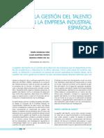 Gestion Del Talento en La Empresa Española
