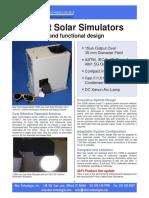Low Cost Solar Simulators 2015