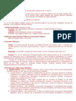 Resumo Esquemático Da Lei 8112-90