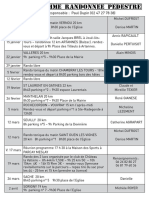 Programme Rando 2017