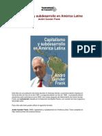 25720588 Frank Andre Gunder Capitalismo y Subdesarrollo en America Latina 1967