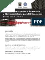 Folleto Diplomado Estructuras 2017