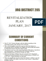 District 205 Revitalization Plan 1-9-17