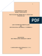 Lecciones Elementales de Sociología General y Jurídica-reglamento- Primer Año Nocturno-unilibre.2015