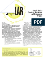 Small Solar Electric Systems a MN Guide 032103025940 Guide to Solar Electric