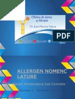 Artropodos  (  Allergen Nomenclature IUIS )