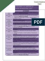Calendario Académico Primer Semestre 2017