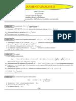 Examens Analyse II Analyse I 2015 2016