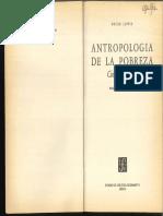 Antropología de La Pobreza