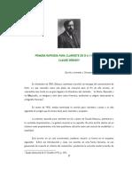 DEBUSSY, C. - Rapsodia de Clarinete (Análisis)