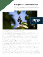 Biografía Corta de Miguel de Cervantes Saavedra