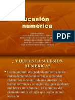 Sucesión    numérica