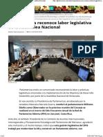 26-12-16 ParlAmericas Reconoce Labor Legislativa de La Asamblea Nacional