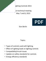 Lighting Control Developments