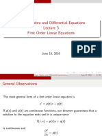 LADE3 First Order Linear Equations
