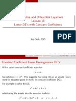 LADE18 Linear Constant Coeffient DEs