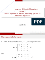 LADE21 Matrix Exponentials