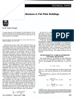 Estimation of Slab Deflections in Flat Plate Buildings