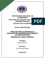 tratado de llibre comercio con la Union Europea