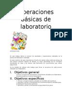 Operaciones Básicas de Laboratorio