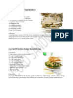 Cold Sandwiches Recipe